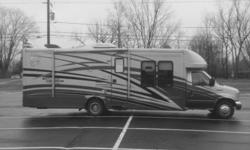 This is a 2008 Gulf Stream BT Cruiser, it is powered by a Ford 450 engine, has 3 slides, Original Owner, Non-Smoking, Pet Free. INTERIOR FEATURES: Vinyl Floors, Carpet, Full Kitchen, Top/Bottom Fridge