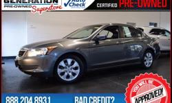 Accord EX-L and 2008 Honda Accord. Welcome to Generation Kia! You NEED to see this car! Your quest for a gently used car is over. This terrific 2008 Honda Accord has only had one previous owner, with
