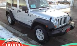 Toyota Of The Black Hills is pleased to be currently offering this 2008 Jeep Wrangler Unlimited X with 0 miles.    This SUV gives you versatility, style and comfort all in one vehicle. Take home this