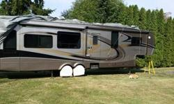 """2008 fully loaded, 39'11"""" 5th wheel, used once, above average looking unit inside and out. Model-Escalade 37 SB Aside from all standard features the above Escalade also has the following: Living Packa"""