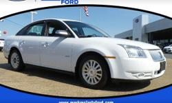 Clean CARFAX. Odometer is 705 miles below market average! 28/18 Highway/City MPG  Oxford White Clearcoat 2008 Mercury Sable FWD 18/28mpg 6-Speed Automatic  Mark McLarty Ford Lincoln, in North Little R