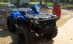 2008 Polaris Sportsman 800 with Swamp Lite tires. Lots of extras. Low hours (less than 200 hours on it). Never been sunk or snorkeled, one owner, have title in hand. Asking $4,500 (considerably lower
