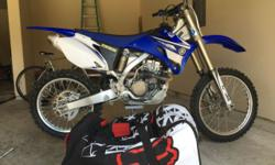 2008 Yamaha YZ 250F Dirt Bike absolutely like new. This is the right one for you!!! Full riding gear, boots, helmet, leathers, goggles, gloves, chest protector and FOX bag. Must sell $2500. (832) 534-