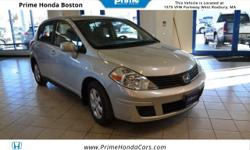 BLUETOOTH STEERING WHEEL ADUIO CONTROLS CLEAN CARFAX ONLY 47K MILES! TILT STEERING WHEEL SPLIT FOLDING REAR SEAT 2009 Nissan Versa 1.8S Silver On Black Cloth Interior!At Prime Motor Group we are chang