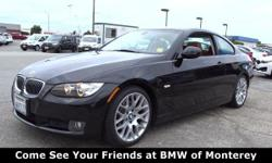 CARFAX 1-Owner. JUST REPRICED FROM $13,900, FUEL EFFICIENT 28 MPG Hwy/18 MPG City! Heated Leather Seats, Moonroof, Aluminum Wheels, IPOD & USB ADAPTER, Dual Zone A/C, CD Player, Rear Air, REAR PARK DISTANCE CONTROL, SPORT PKG AND MORE!  THIS 3 SERIES IS