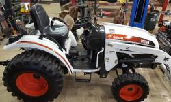 2010 CT230 Bobcat tractor with loader for sale 30hp, rear remote, 4x4, air ride seat, 3-point hitch, ROP, lights and blinkers, 1040 hours, looks and runs great. Very well maintained.  I WILL DELIVER T