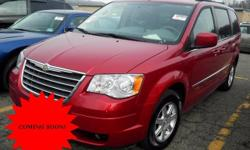 Odometer is 9590 miles below market average!  Chrysler 2010 Touring Red  Options:  3.246 Axle Ratio|16 X 6.5 Aluminum Wheels|Cloth Low-Back Bucket Seats|2Nd Row Buckets W/Fold-In-Floor|Radio: Media Center 130 Cd/Mp3|Normal Duty Suspension|Audio Jack Input