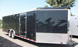 Haul-It: 8.5x29 V-Nose Enclosed trailer for sale, Snowmobile, Atv, car or whatever you want to use it for! Call 989-224-8874 2010 Haul-It 8.5x29 V-Nose Trailer Drive on Drive off Design Drivers side G
