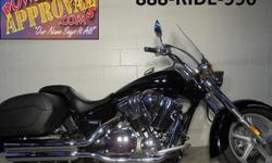 2010 Honda Interstate 1300 c.c. motorcycle for sale with only 4,965 miles! Vivid black paint with tons of chrome! This bike is perfect, perfect, perfect! Windshield, saddlebags, floor boards, and more