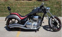 2010 Honda VT1300CX Fury Motorcycle.Special Edition Matte Gray in color with Custom Black & & Red Ostrich & Leather 2 Passenger Seat with Backrest. Water Cooled 1300cc Fuel Injected V-Twin with 5 Spee
