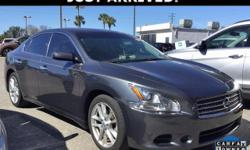 This Maxima features: ABS brakes, Electronic Stability Control, Front dual zone A/C, Illuminated entry, Low tire pressure warning, Power Sunroof, Remote keyless entry, Traction control.  Clean CARFAX. CARFAX One-Owner. Priced below KBB Fair Purchase