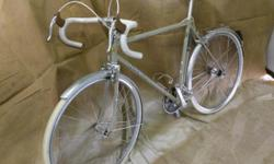 Attention all Bicycle Lovers! This is a rare gem. This is a 2010 custom, hand made, men's Gangl road bike. It has a 57 cm top tube with 56 cm seat tube. Nitto bars, stem and seat post. Phil flip-flop