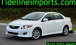 Super clean and nice, runs great, Toyota Corolla S with only 75k miles. Sunroof Side and Curtain airbags Like new tires Alloys Manual Aux hook up Cruise control Traction control Power mirrors Power wi