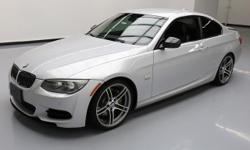 This awesome 2011 BMW 3-Series comes loaded with the following features: M-Sport Package, 3.0L Twin-Turbocharged I6 Engine, Automatic Transmission, Leather Seats, Power Front Seats, Driver Seat Memory