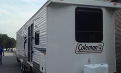 Excellent condition 2011 37 foot Coleman Travel trailer. This is the biggest one they make, it's got tons of room like a full size apartment! 2 full bedrooms with queen beds. Large stand up shower. Fu