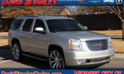 Yukon Denali, 4D Sport Utility, Vortec 6.2L V8 SFI VVT Flex Fuel, Automatic, AWD, ABS brakes, AM/FM Stereo w/MP3 CD/Navigation, Compass, Electronic Stability Control, Emergency communication system, F