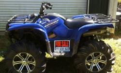i have a 6 month old 700 grizzly 2011 with a 2in lift,29.5 outlaw 2's,HMF pipe,blue neons,SS rims i am selling it for 8,000$ because i want to get a RZR and i am selling a pair of 28 by 14 mud lights