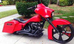I am selling my 2011 custom bagger.  It was built by Back Yard Baggers of Chesapeake finished August 2011.  It is a true show winning one of a kind.  It started out as   a 2006 Electra Glide Standa