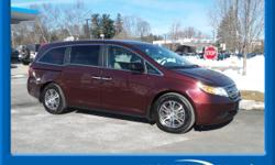 ONE OWNER, CLEAN AUTOCHECK, and LOCAL TRADE. Odyssey EX, 4D Passenger Van, 5-Speed Automatic, 3rd row seats: split-bench, Automatic temperature control, Compass, Front dual zone A/C, Heated door mirro