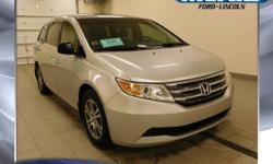 //LOCAL TRADE IN ONE OWNER// and **CLEAN VEHICLE HISTORY REPORT NO ACCIDENTS//. Alabaster Silver Metallic. What a superb deal! Wow! What a sweetheart! How tempting is this handsome 2011 Honda Odyssey,