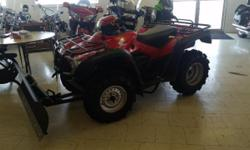 THIS 2011 HONDA TRX500 4X4 HAS NEW TIRES AND A BRAND NEW CYCLE COUNTRY MANUAL PLOW SYSTEM ON IT,,,MEANING ITS READY TO GO TO WORK FOR YOU!!! LOW HOURS AND VERY LOW MILES, GET IT WHILE YOU CAN.....