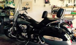 This motorcycle is in excellent condition. It was purchased brand new from a dealer in 2013 with one mile on the odometer. It has a back rest, LED lights, and a new battery. It has always been garaged