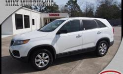4 Cylinder  Options:  6-Speed Manual|If You're Looking For A Smooth Ride|Look No Further Than This 2011 Kia Sorento Base With Hill Start Assist|Stability Control|Traction Control|A Mp3 Player|Cd Playe