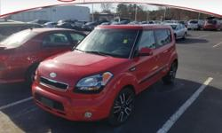 Certified. Leather, Sunroof / Moonroof, ABS brakes, Electronic Stability Control, Illuminated entry, Low tire pressure warning, Remote keyless entry, Traction control.2011 Kia Soul Plus Red 30/24 High