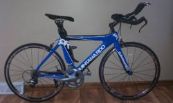 Like NEW 2011 Quintana Roo Lucero. Fast. Comfortable. Light!  Ridden only on race days with exception of about 175 miles.  Body is in fantastic condition! I might only discover a couple blemishes and