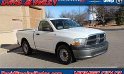 1500 ST, 3.7L V6, Automatic, and White. David Stanley Chrysler Jeep Dodge means business! Best color! Are you still driving around that old thing? Come on down today and get into this good-looking 201