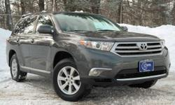 2011 Toyota Highlander, Classic Silver Metallic, One Owner, Accident Free CARFAX, 10 YEAR / 100,000 Mile Warranty, Bluetooth, Keyless Entry, Locally Owned Trade, Passed Rigorous Safety Inspection, and
