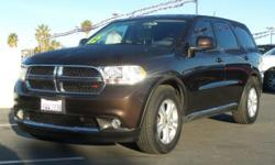 Options:  2012 Dodge Durango Sxt|Rugged Brown Pearl/|V6 3.6L Automatic|69594 Miles| Rear Wheel Drive| Power Steering| Abs| 4-Wheel Disc Brakes| Aluminum Wheels| Tires - Front On/Off Road| Tires - Rear