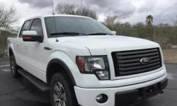 Ford F-150 FX4! 4D SuperCrew, 5.0L V8, 4WD, 6-Speed Automatic Electronic, Oxford White. SYNC!! Remote Keyless Entry, Parking Sensors, Power Sliding Rear Window, and Steering wheel mounted audio contro
