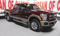 This model has a V8, 6.7L; Turbo high output engine. The high efficiency automatic transmission shifts smoothly and allows you to relax while driving. This 3/4 ton pickup has four wheel drive capabilities. It has a diesel engine. The vehicle gleams with a