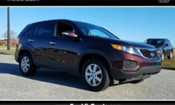 Sorento LX and Red. Don't let the miles fool you! Power To Surprise! How inviting is the fantastic condition of this charming 2012 Kia Sorento? When you see this super clean Sorento, you will know it