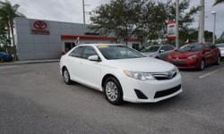 Good fuel economy...take that to the bank. Surround soundlessness.  Looking for awonderful deal on a beautiful-looking 2012 Toyota Camry? Well, we've got it! This Camry is nicely equipped with fe