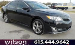 2012 Toyota Camry SE 2.5L I4 SMPI DOHC Attitude Black Metallic 25/35mpgBlack W Fabric Seat Trim Or Trimmed Ultras Leather.Reviews:  * Strong and fuel-efficient engines; user-friendly and high-tech ele