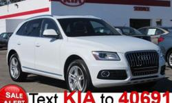 All Wheel Drive, never get stuck again. This 2013 Audi Q5 2.0T Premium has less than 55k miles!!! Just Arrived* Awesome!! This is the vehicle for you if you're looking to get great gas mileage on your