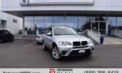 Find maximum driving pleasure in BMW's 2013 X5 xDrive35i Premium AWD is on display in Titanium Silver Metallic. This SUV offers confident handling, tight cornering and abundant power that only BMW can