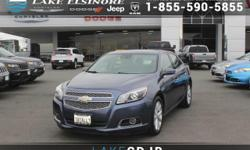 This 2013 Chevrolet Malibu LTZ is proudly offered by Lake Elsinore Chrysler Dodge Jeep Ram CARFAX BuyBack Guarantee is reassurance that any major issues with this vehicle will show on CARFAX report. T
