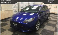 This outstanding example of a 2013 Ford Focus ST is offered by Bay Ridge Nissan. Your buying risks are reduced thanks to a CARFAX BuyBack Guarantee. The 2013 Ford offers compelling fuel-efficiency alo