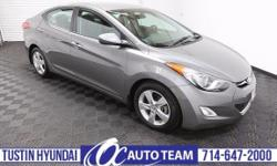 Our incredible 2013 Elantra GLS is brought to you in a stunning Gray exterior finish. This single machine has reinvented the compact automobile category globally. Under the hood of this stylish and so