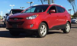 Only 44,675 Miles! Boasts 27 Highway MPG and 20 City MPG! This Hyundai Tucson boasts a Gas I4 2.4L/144 engine powering this Automatic transmission. Warning lights -inc: oil pressure, battery charge, d