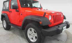 Less than 25k miles!!! You don't have to worry about depreciation on this versatile Wrangler!!!!. No trip is too far, nor will it be too boring!! All Around champ!!! 4 Wheel Drive, never get stuck again* Safety equipment includes: ABS, Traction control,