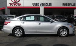 CVT with Xtronic ABS brakes Electronic Stability Control Illuminated entry Low tire pressure warning Remote keyless entry and Traction control. How would you like cruising away in this outstanding looking 2013 Nissan Altima A deal like this on such a gas