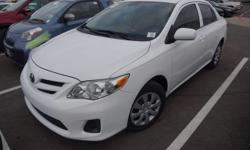 Recent Arrival! 2013 Toyota Corolla LEClean CARFAX. ABS brakes, Electronic Stability Control, Heated door mirrors, Illuminated entry, Low tire pressure warning, Remote keyless entry, Traction control.
