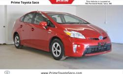 CARFAX One-Owner! Toyota Certified! 2013 Toyota Prius Two in Barcelona Red Metallic! With these sought after options:, MP3- USB / I-Pod Ready, Bluetooth, Power Locks, Power Windows, Cruise Control, Ke