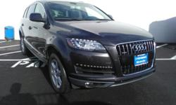 2014 Audi Q7 3.0T Premium **CARFAX One-Owner**. quattro 4D Sport Utility, Leather, 11 Speakers, 3rd row seats: bench, Automatic temperature control, Front dual zone A/C, Heated door mirrors, High inte