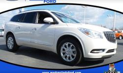 Recent Arrival! FWD. Clean CARFAX. Odometer is 18749 miles below market average! CARFAX One-Owner.  White Opal 2014 Buick Enclave Premium Group FWD 17/24mpg 6-Speed Automatic  Mark McLarty Ford Lincol
