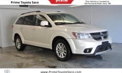 CARFAX One-Owner! 2014 Dodge Journey SXT in White! With these sought after options:, All Wheel Drive, Leather Heated Seats, MP3- USB / I-Pod Ready, Hands Free Calling, Power Locks, Power Windows, Crui